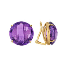 Amethyst Signature Clip Earrings