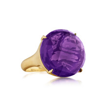 Jumbo Amethyst Signature Ring