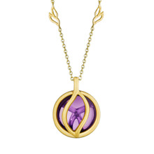 Small Brooke Leaf Amethyst Pendant