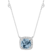 Carey Aquamarine Cushion Pendant