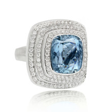 Steps Aquamarine Ring