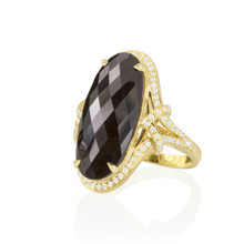 After Dark Black Spinel Oval Ring