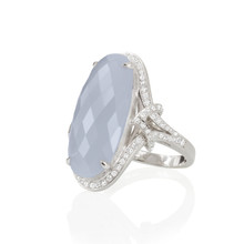 After Dark Chalcedony Oval Ring