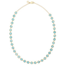 Blue Topaz Reversible Signature Necklace