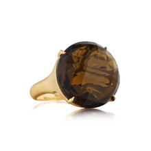 Jumbo Cognac Quartz Signature Ring