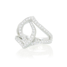 Athena Pave Diamond Crossover Ring