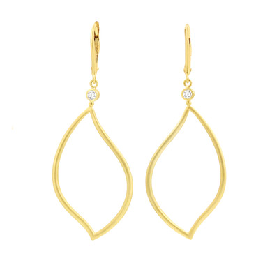 Athena Drop Leaf Earrings