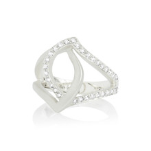Athena Crossover Ring in White Gold