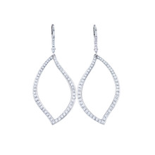 Athena Pave Diamond Drop Leaf Earrings