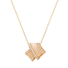 Knot Diamond Trim Pendant in Rose Gold