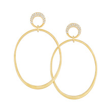 Jumbo Interlinks Pave Diamond Earrings