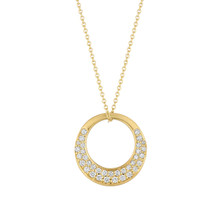 Large Interlinks Pave Diamond Pendant