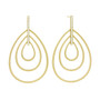 Moderne Trio Drop Earrings