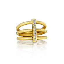 Moderne Trio Ring in Yellow Gold