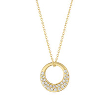 Interlinks Pave Diamond Pendant