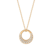 Diamond Pave Interlinks Pendant in Rose Gold