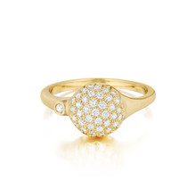 Yellow Gold Diamond Sizzle Stack Ring