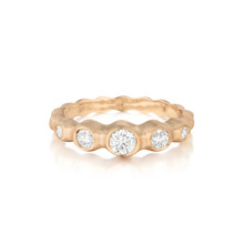 Pebbles Five-Stone Diamond Band in Rose Gold