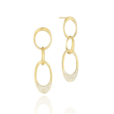 Interlinks Pave Diamond Trio Earrings