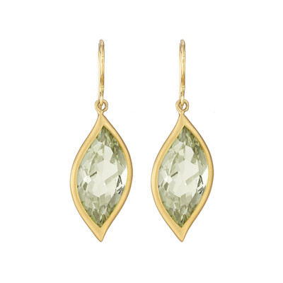 Leaf Green Quartz Earrings