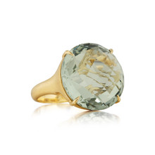 Jumbo Green Quartz Signature Ring