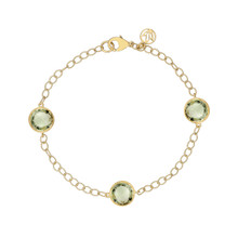 Green Quartz Trio Signature Bracelet