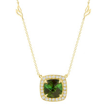 Carey Green Tourmaline Cushion Pendant