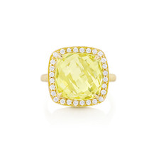 Carey Lemon Quartz Cushion Ring