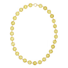 Lemon Quartz Large Reversible Signature Necklace