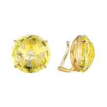 Lemon Quartz Signature Clip Earrings