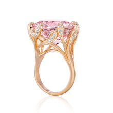 After Dark Morganite Jeanne Ring