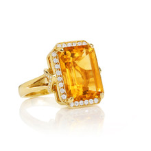 After Dark Orange Citrine Ring