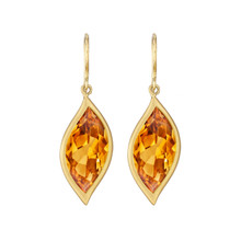 Leaf Orange Citrine Earrings