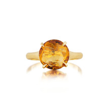Orange Citrine Signature Ring