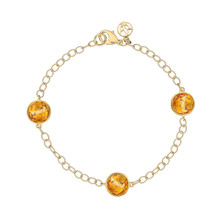 Orange Citrine Trio Signature Bracelet