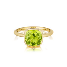 Cushion Peridot Stack Ring