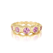 Pink Sapphire Pebbles Ring