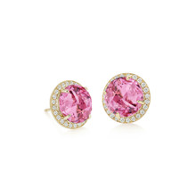 Carey Pink Tourmaline Earrings