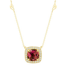 Carey Pink Tourmaline Cushion Pendant