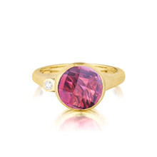 Pink Tourmaline and Diamond Medium Stack Ring