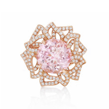 After Dark Pink Tourmaline Flower Ring