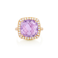 Carey Rose de France Cushion Ring