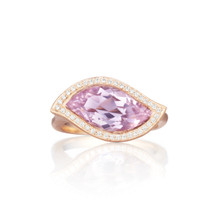 Leaf Rose De France East-West Ring
