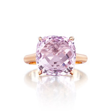 Rose de France Cushion Signature Ring