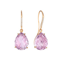 Rose de France Pear and Diamond Pave Signature Earrings