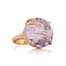 Rose de France Single Leaf Large Signature Ring
