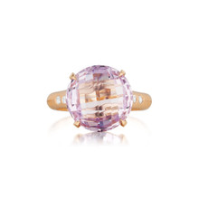 Rose De France and Diamond Signature Ring