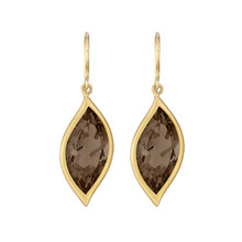 Leaf Smoky Quartz Earrings