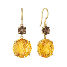 Smoky Quartz Double Drop Signature Earrings