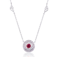 Mini Steps Red Spinel Pendant